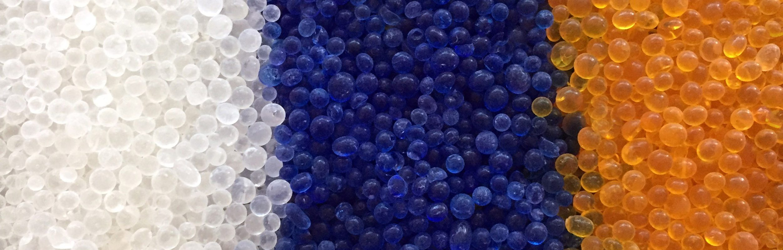 Silica Gel: White (non-indicating), Blue (indicates as pink), Yellow (indicates as green), and More Options...